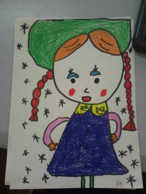 可爱的娃娃思考图
