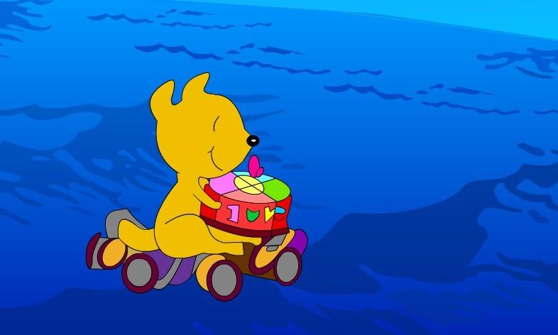 1,通过小动物驾船前去祝贺海龟爷爷生日的情节,传