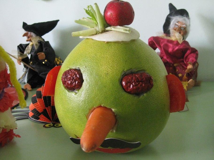 园手工制作水果娃娃