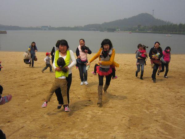 海边亲子活动游戏