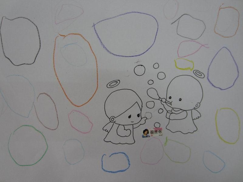 最后要手拉手; 寶寶吹泡泡;; 小朋友吹泡泡簡筆畫;