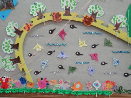 幼儿作品主题墙设计