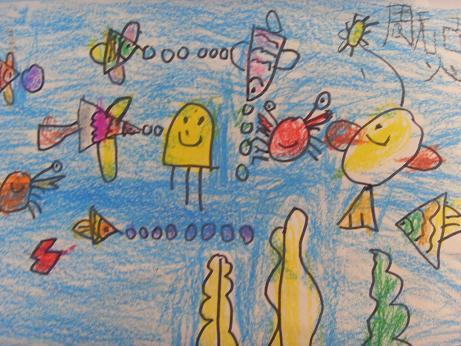 蜡笔画:海底世界