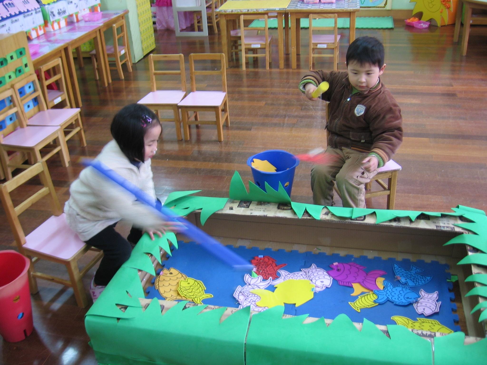 儿童怎么手工制作鱼竿