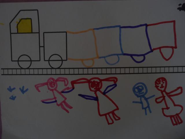 幼儿开火车的歌简谱