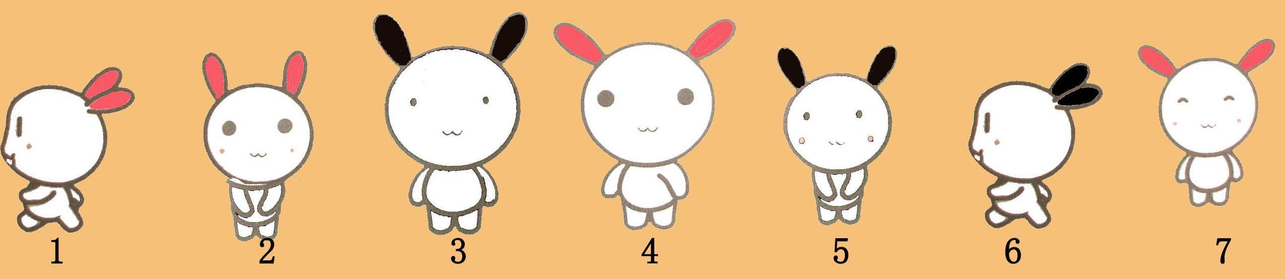 7只可爱的小兔子造了