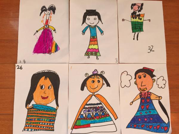 幼儿园美术表情娃娃分享展示图片