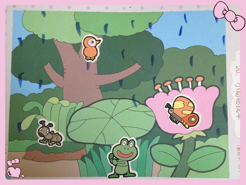 我们在帮小动物装扮雨伞02020202020202