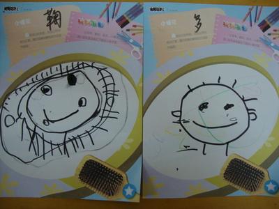 园所主页 巧手宝贝  今天是绘画活动,让孩子画自己的笑脸,孩子们画得