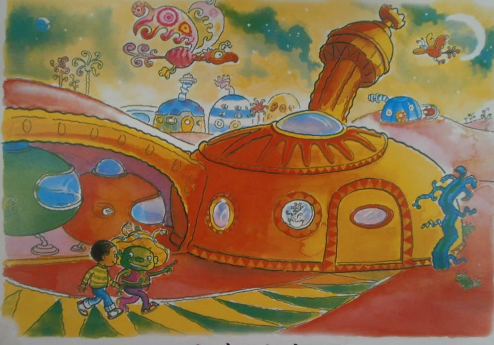 星球简笔画儿童画