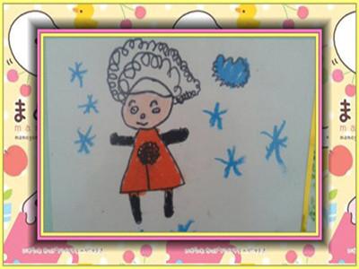 我们请幼儿为妈妈设计发型,要求幼儿为妈妈设计一款卷发,掌握曲线的