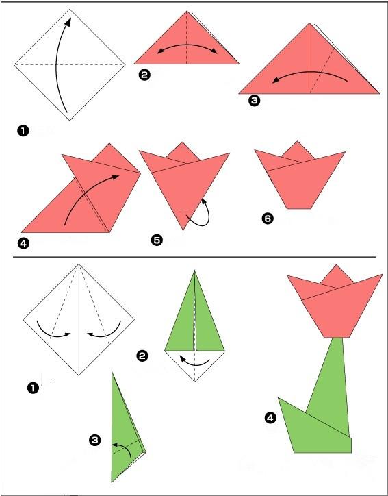 幼儿园小红花剪纸步骤图