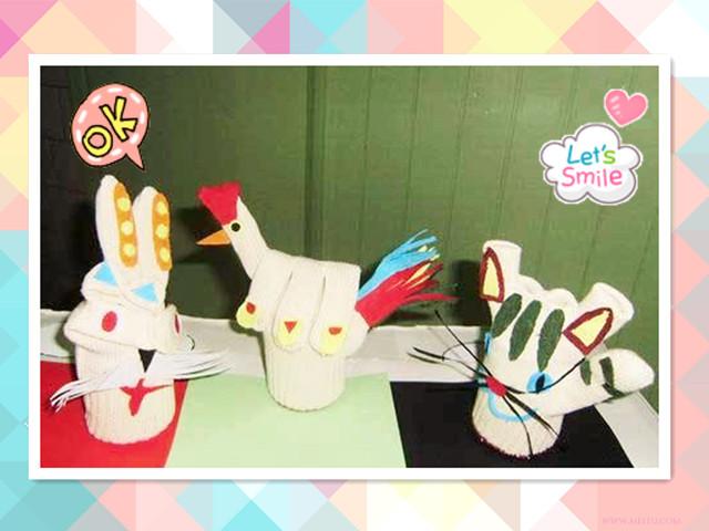 可爱的小兔和小猫,还有神奇的大公鸡!
