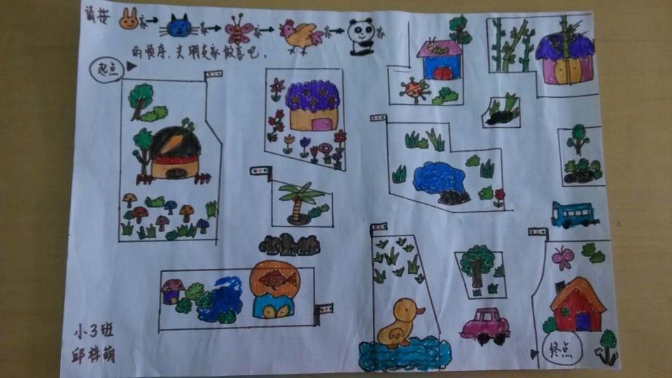园所主页 班级相册  亲子制作棋谱4——小动物要回家喽