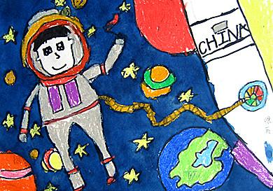 太空人简笔画幼儿