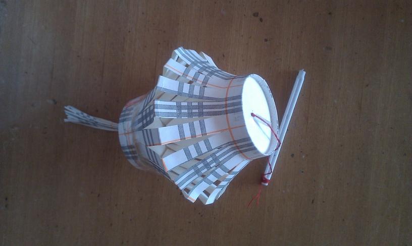 用纸杯做的灯笼,你想到没有呢!