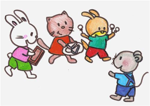 卡通可爱老鼠图片