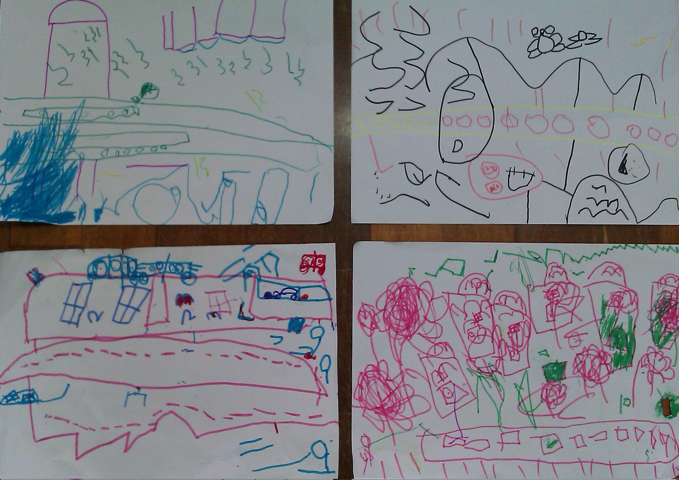 美术活动:幼儿园门前的一条路