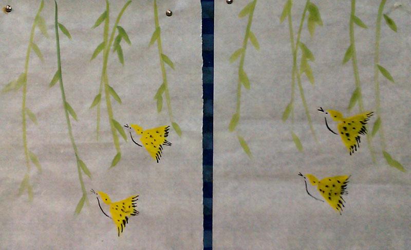 两只黄鹂鸟 歌谱