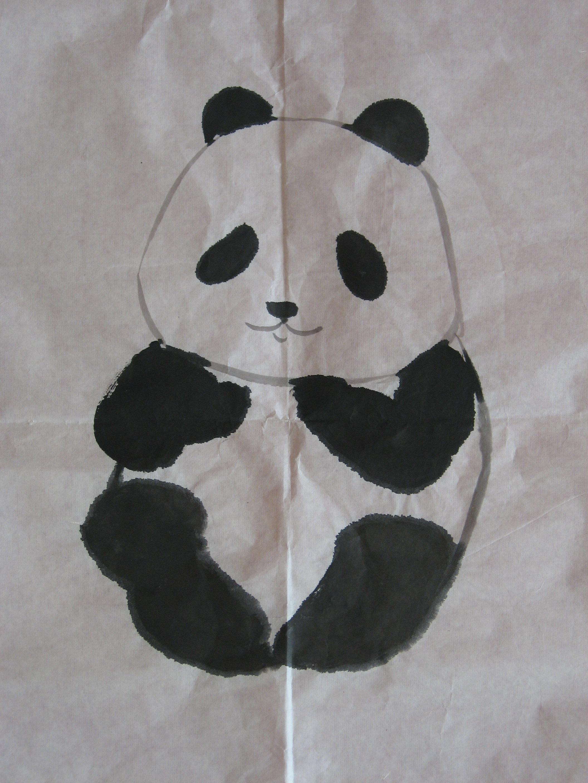 国画 熊猫1; 国画(熊猫1); 中国画大熊猫图片