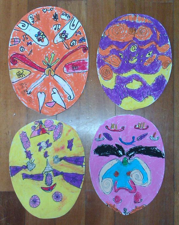 美术活动 京剧脸谱 -西街幼儿园