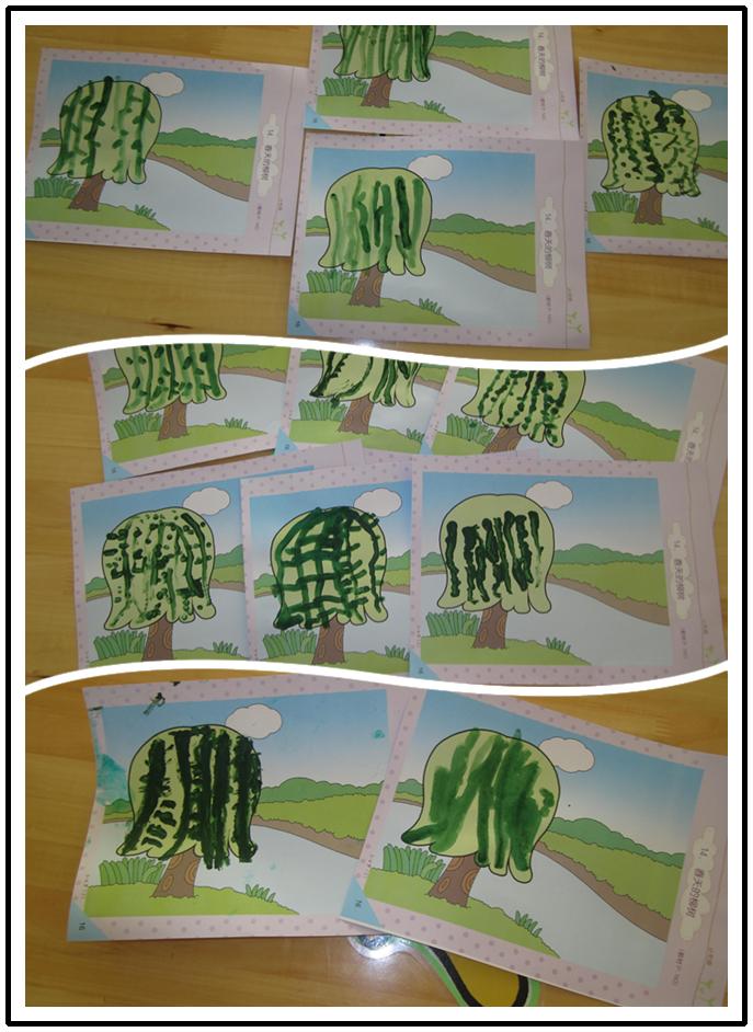 幼儿园柳树发芽手工制作