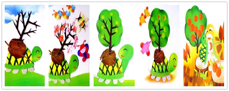 幼儿园植物手工制作大全乌龟