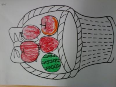 水果篮简笔画图片