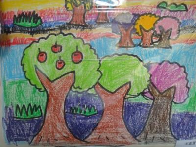 多彩的秋天儿童画 秋天的图画大全儿童画 儿童画秋天的图画