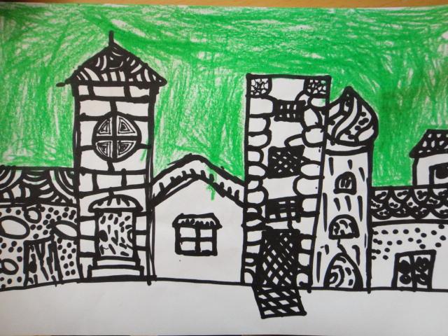 幼儿老房子简笔画