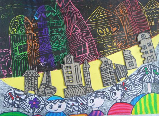阳光下成长绘画作品一等奖高中分享展示