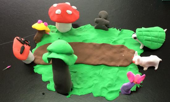 标题: 白鹤幼儿园首届亲子彩泥作品