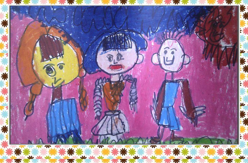 幼儿园我长大了卡通主题墙边框