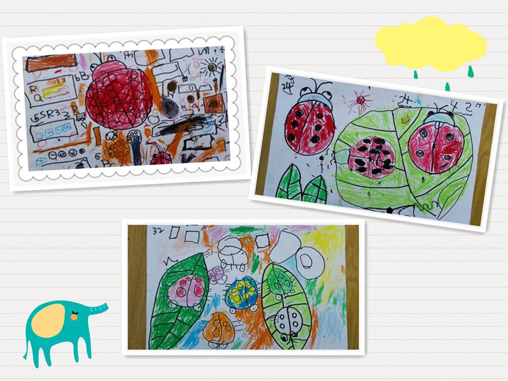 看看,我们可爱的小朋友们画的是什么瓢虫呢?
