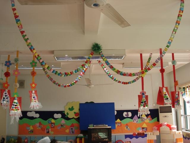 园教室布置图案 幼儿园迎元旦教室布置 幼儿园教室