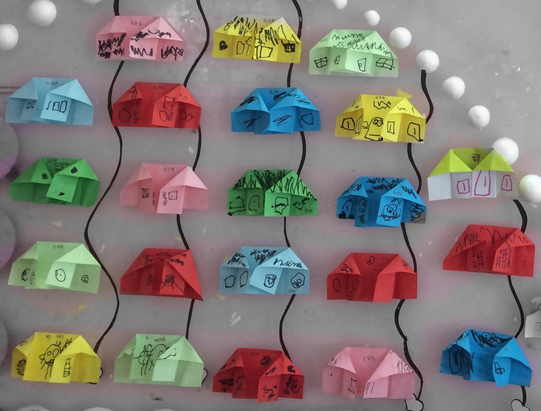 园所主页 中八班 童心童画  折纸:房子            发布时间: 2015年3