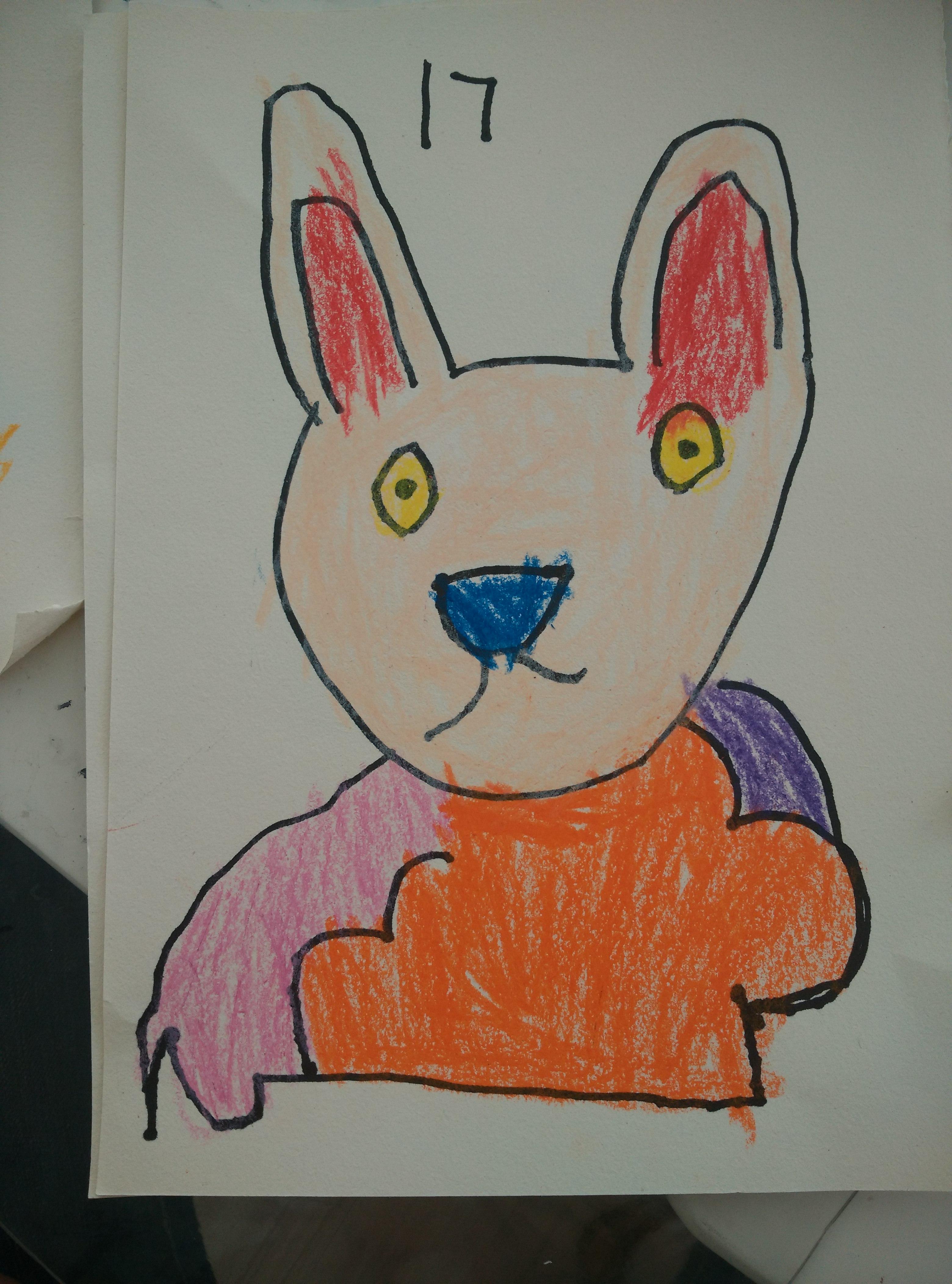 园所主页 大2班 巧手作品  小兔子真可爱(方泰新)