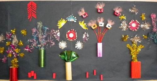 幼儿园元旦手工制作烟花