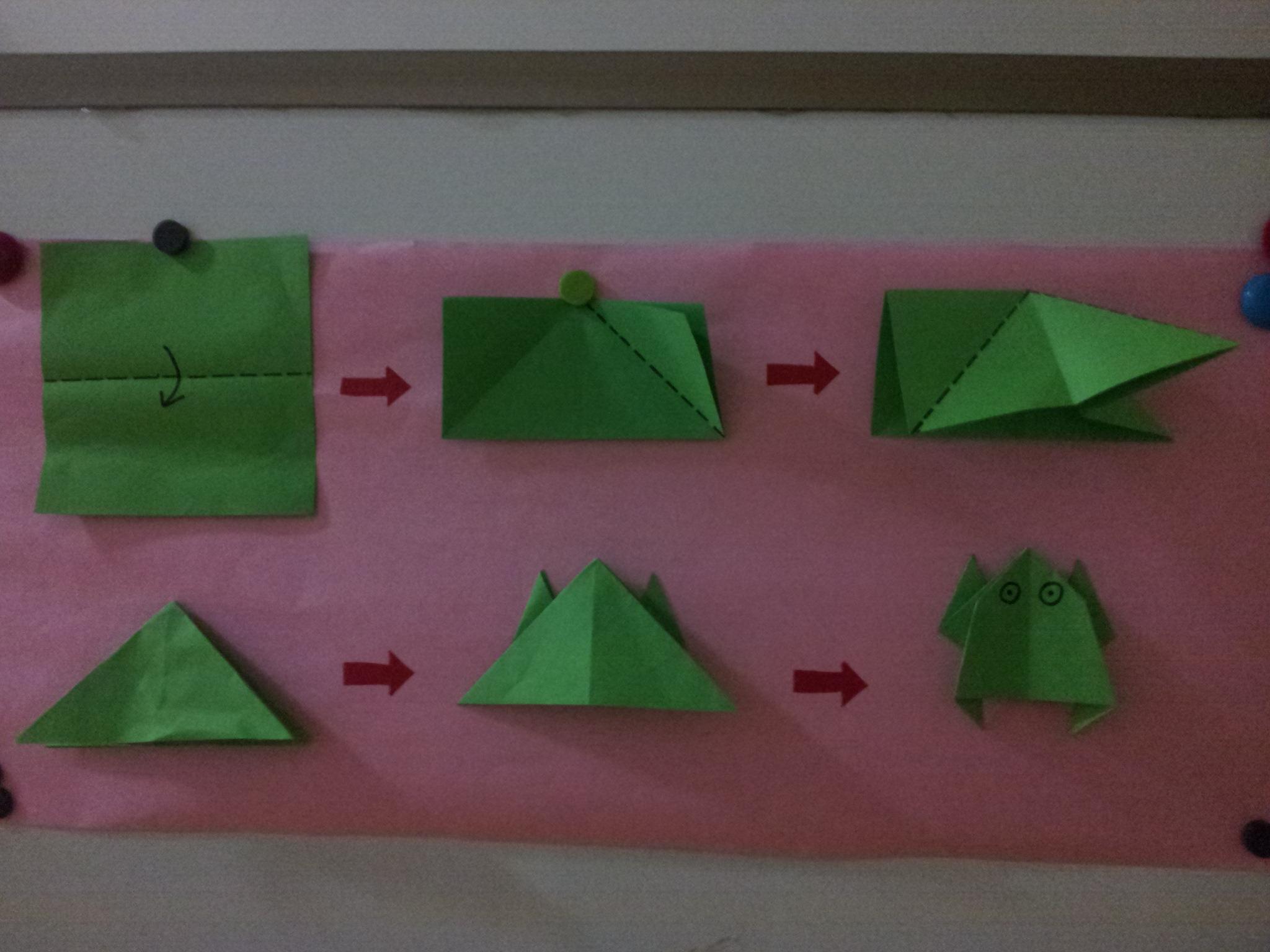 折青蛙; 各种折纸花步骤图解分享;
