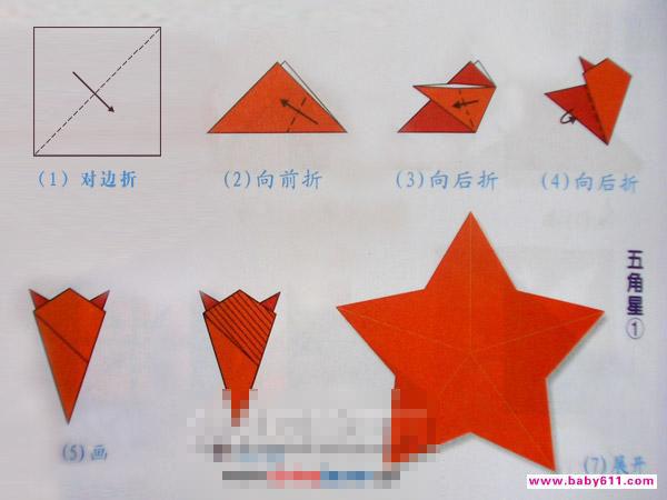 简单剪纸星星步骤图解