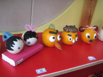 可爱的果蔬娃娃——记打虎山路幼儿园小班亲子制作活动