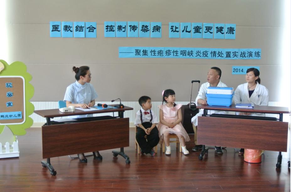 由闵行区社区卫生服务中心主办,闵行区鹤庆幼儿园协办的《医教结合