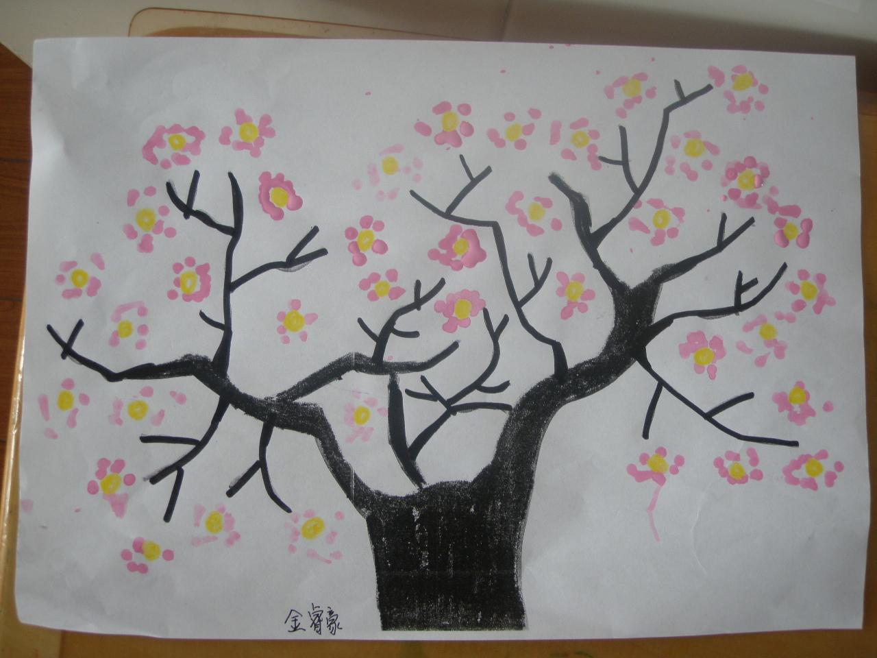 儿童画桃花怎么画