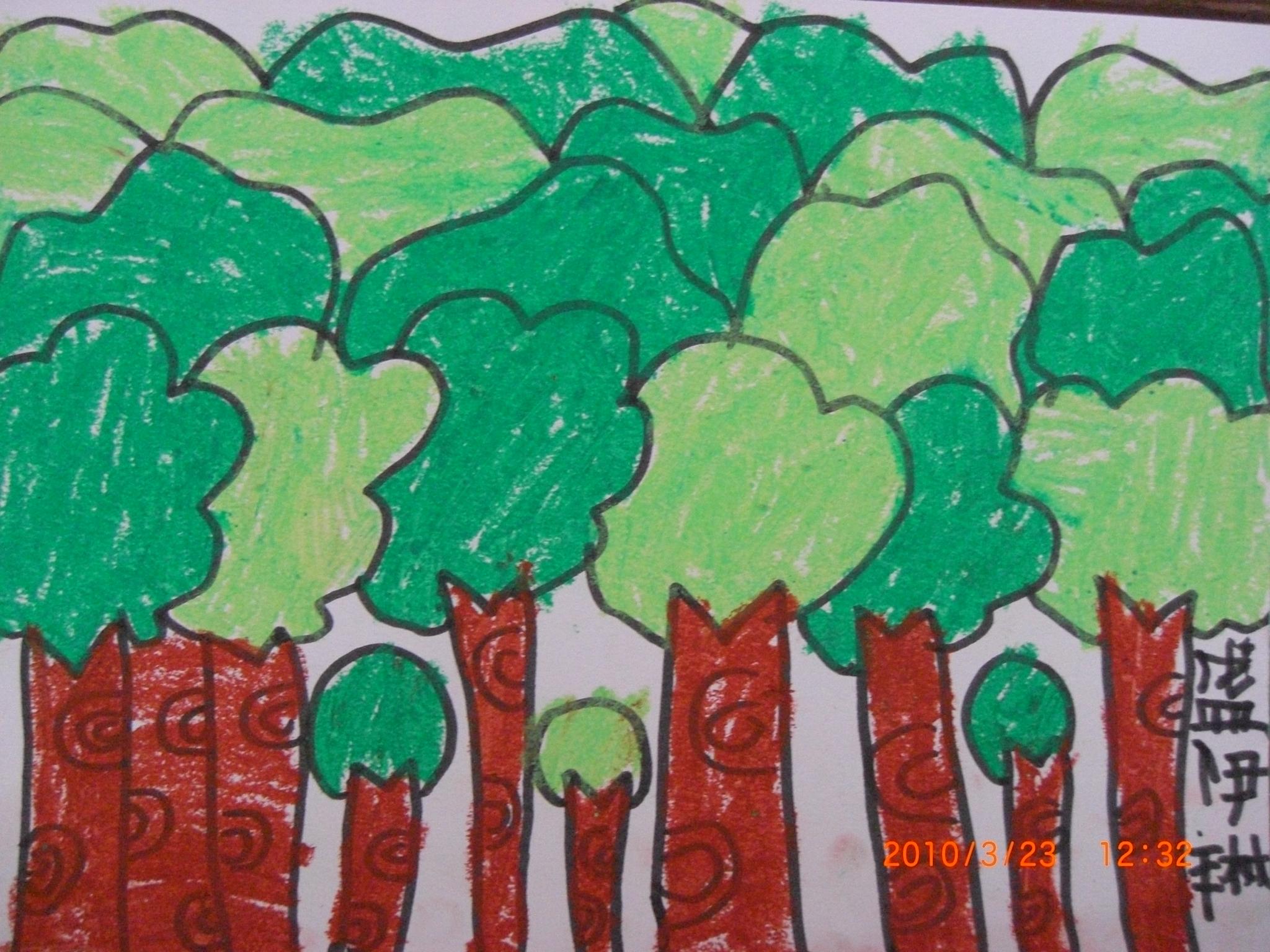 小树林绘画作品