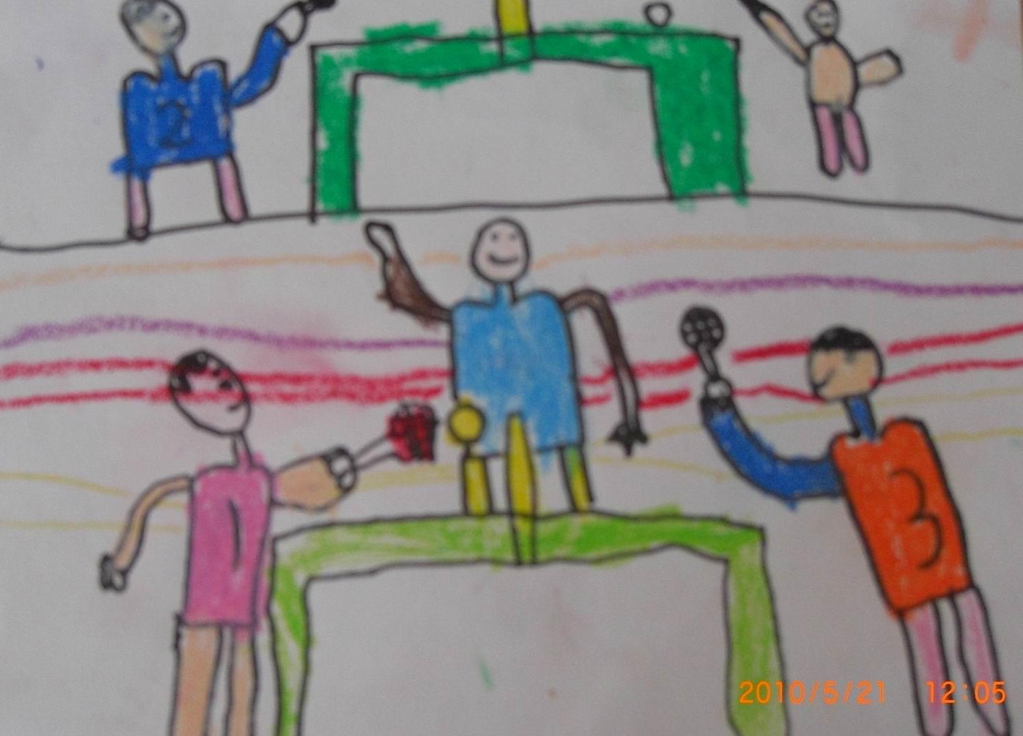 大班绘画人物风景图片