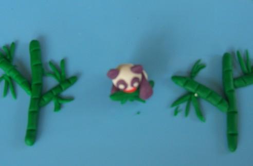 橡皮泥手工制作图片大熊猫