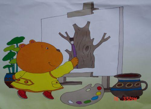 小熊画画法步骤