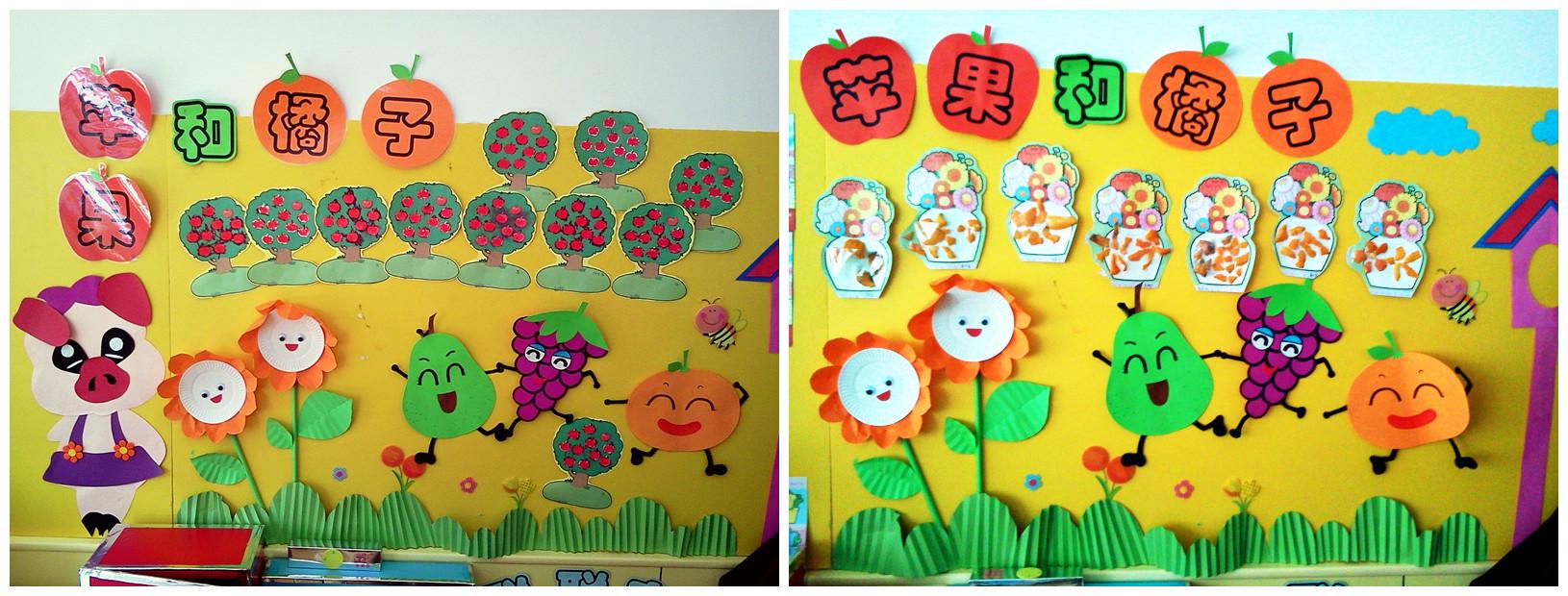 幼儿园主题墙饰设计秋天