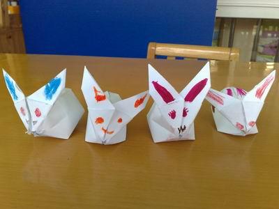 幼儿园手工制作折纸兔子