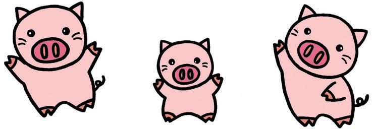 三只小猪矢量图